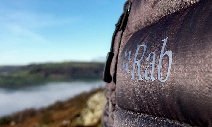 Rab microlight down jacket. Built for adventure