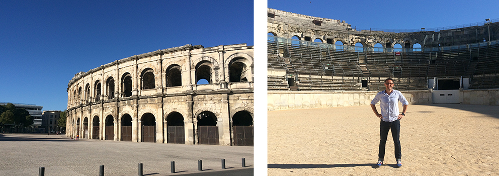 In the Roman Arena Nimes France