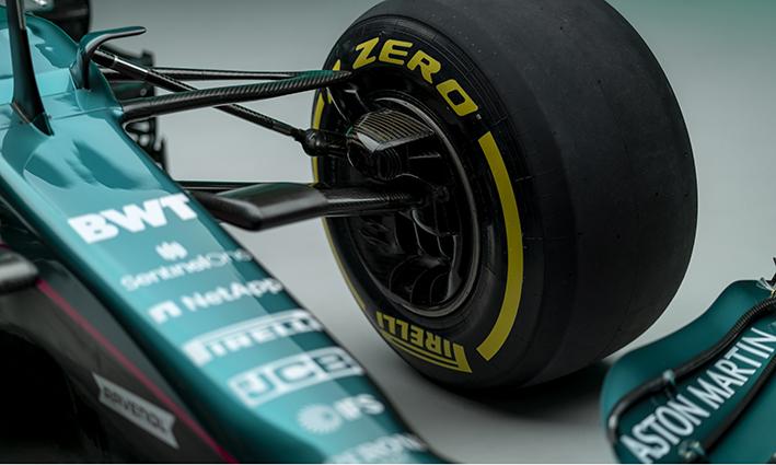 Aston Martin Cognizant AMR21 Formula 1 front suspension
