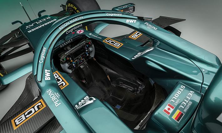 Aston Martin Cognizant AMR21 Formula 1 halo