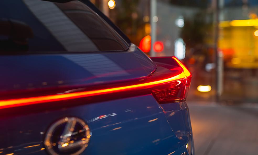 The Lexus UX rear lights