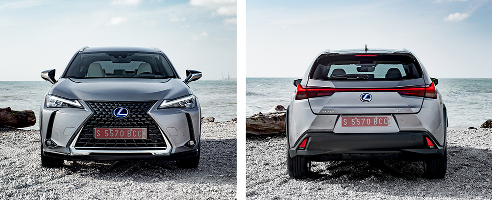 Lexus UX front and rear view